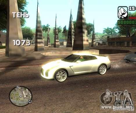 Discos en cualquier lugar para GTA San Andreas segunda pantalla