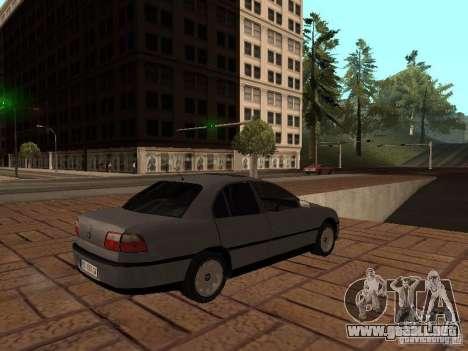 Opel Omega B 1998 v2 para la visión correcta GTA San Andreas