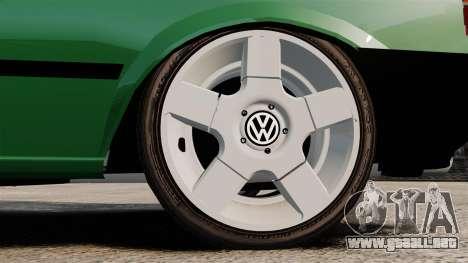 Volkswagen Gol GL 1992 Edit para GTA 4 vista hacia atrás