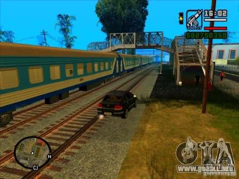 Largo tren para GTA San Andreas segunda pantalla