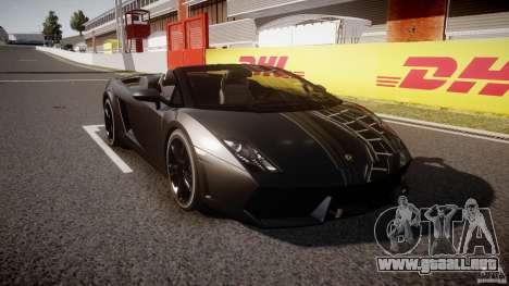 Lamborghini Gallardo LP560-4 Spyder 2009 para GTA 4 vista hacia atrás