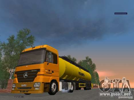 Mercedes-Benz Actros Rosneft para visión interna GTA San Andreas