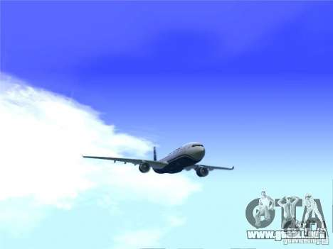 Airbus A330-300 US Airways para GTA San Andreas vista posterior izquierda