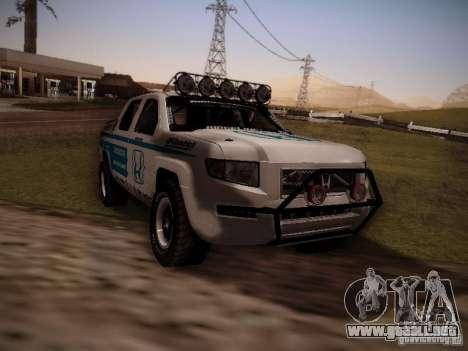 Honda Ridgeline Baja White para GTA San Andreas