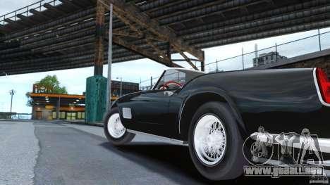 Ferrari 250 California 1957 para GTA 4 Vista posterior izquierda