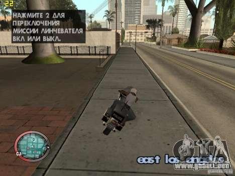 Además del HUD de GTA IV para GTA San Andreas tercera pantalla