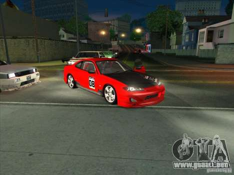 Nissan Silvia S15 Tunable KIT C1 - TOP SECRET para la vista superior GTA San Andreas