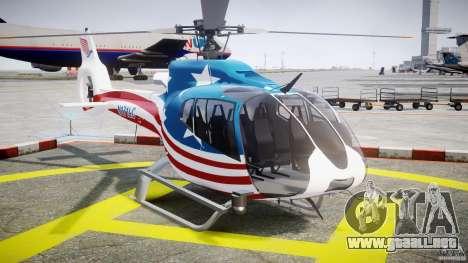 Eurocopter EC 130 B4 USA Theme para GTA 4 vista hacia atrás
