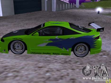 Mitsubishi Eclipse 1998 - FnF para GTA San Andreas left