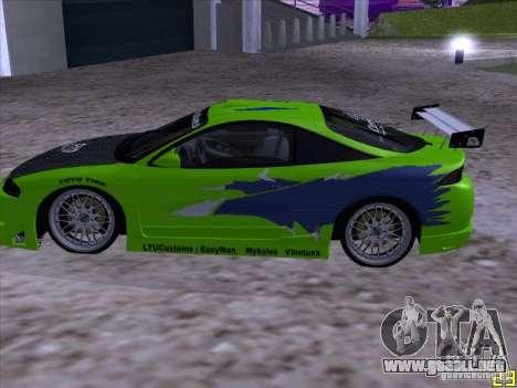 Mitsubishi Eclipse 1998 - FnF para GTA San Andreas left