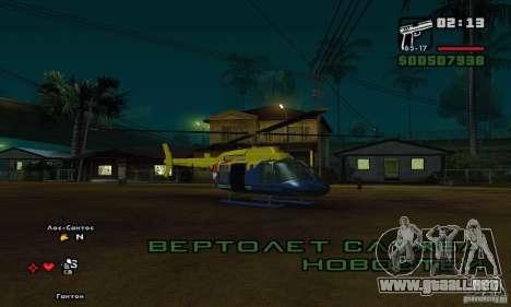 Helitours Maverick de GTA 4 para GTA San Andreas