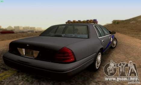Ford Crown Victoria Kentucky Police para GTA San Andreas left