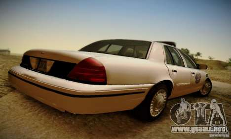 Ford Crown Victoria Missouri Police para GTA San Andreas left
