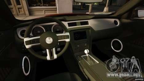 Ford Mustang GT 2011 para GTA 4 vista hacia atrás