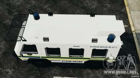 RG-12 Nyala - South African Police Service para GTA 4 visión correcta