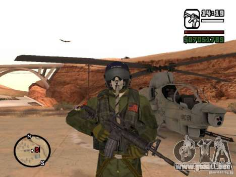 US Air Force para GTA San Andreas tercera pantalla