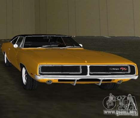 Dodge Charger RT 1969 para GTA Vice City visión correcta
