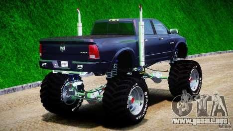 Dodge Ram 3500 2010 Monster Bigfut para GTA 4 vista lateral