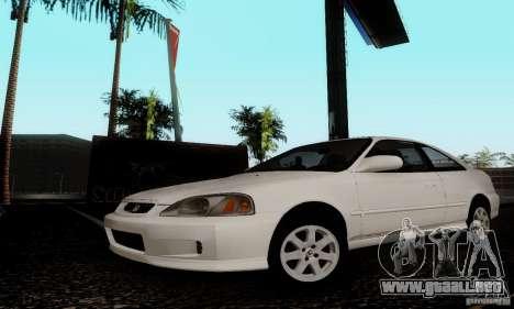 Honda Civic 1999 Si Coupe para GTA San Andreas vista posterior izquierda