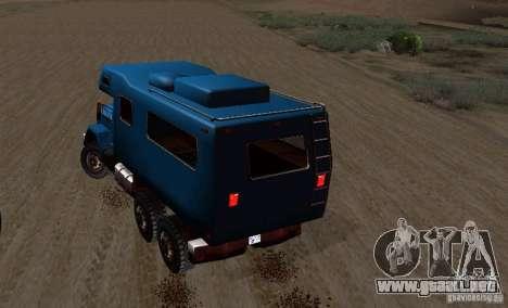Journey 6x6 Enterable V1 para GTA San Andreas vista hacia atrás