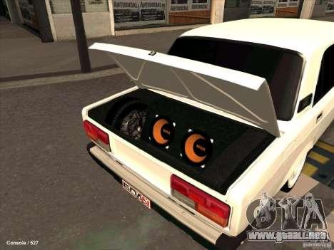 VAZ 2107 para vista lateral GTA San Andreas