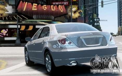 Acura RL 2006 para GTA 4 visión correcta