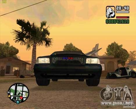 Ford Crown Victoria FBI para GTA San Andreas left