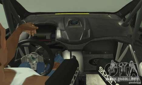 Ford Fiesta Rockstar Energy para GTA San Andreas vista posterior izquierda
