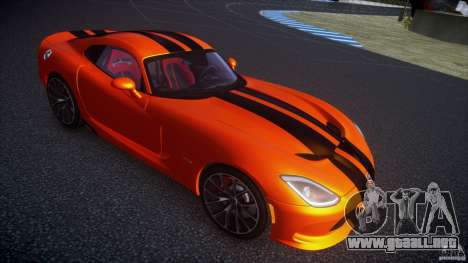 Dodge Viper GTS 2013 v1.0 para GTA 4 Vista posterior izquierda