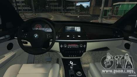 BMW X5 xDrive48i Security Plus para GTA 4 vista hacia atrás