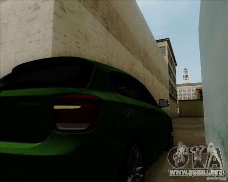 BMW M135i V1.0 2013 para la vista superior GTA San Andreas