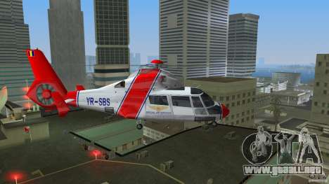 Eurocopter As-365N Dauphin II para GTA Vice City vista lateral izquierdo