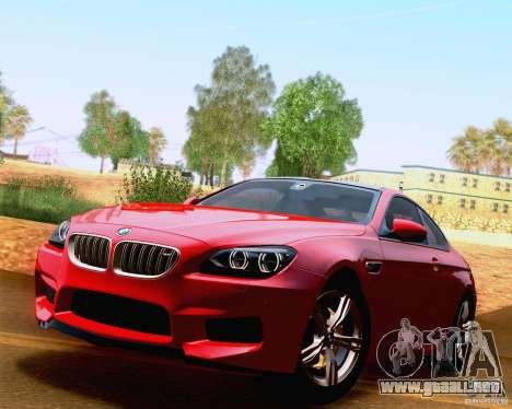 BMW M6 2013 para vista inferior GTA San Andreas