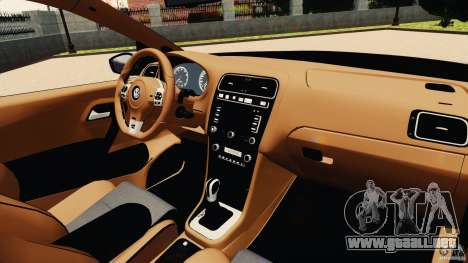 Volkswagen Polo v2.0 para GTA 4 vista hacia atrás