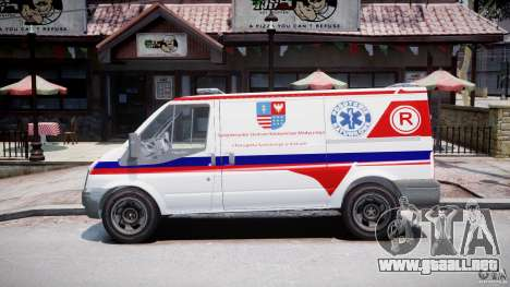Ford Transit Polish Ambulance [ELS] para GTA 4 left