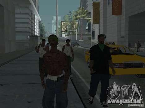 Reemplace todas las pieles Grove Street Families para GTA San Andreas sexta pantalla