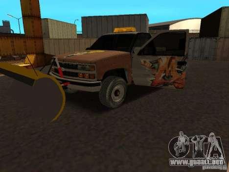 Chevrolet Silverado para GTA San Andreas vista hacia atrás