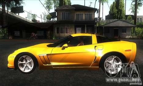 Chevrolet Corvette Grand Sport 2010 para GTA San Andreas left