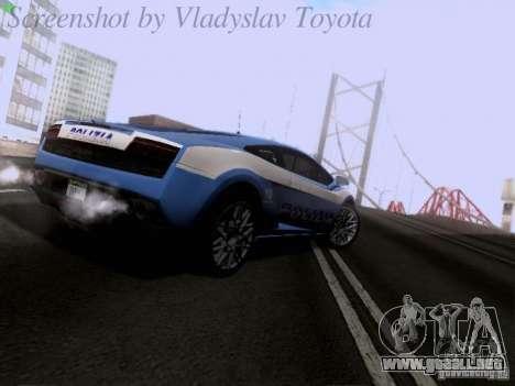 Lamborghini Gallardo LP560-4 Polizia para la visión correcta GTA San Andreas