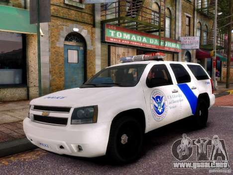 Chevrolet Tahoe New York Police para GTA 4 vista hacia atrás