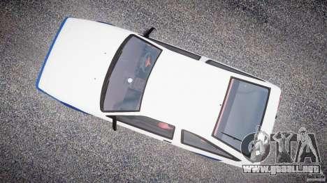 Toyota Trueno AE86 Initial D para GTA 4 visión correcta