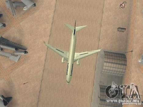 Boeing 737-800 Lufthansa para visión interna GTA San Andreas