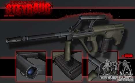 SteyrAug para GTA San Andreas segunda pantalla