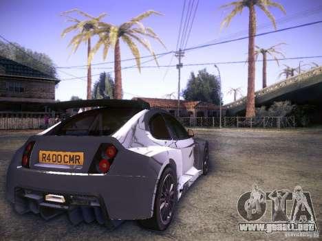 Colin McRae R4 para GTA San Andreas vista posterior izquierda