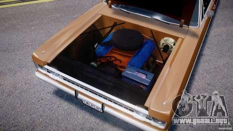 Plymouth Fury III Coupe 1969 para GTA 4 vista interior