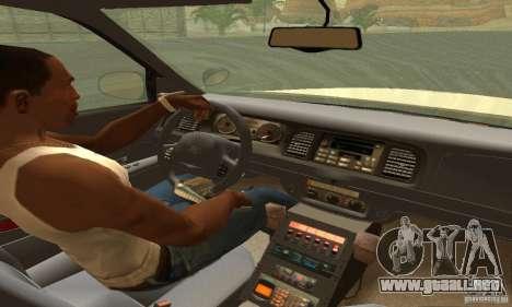 Ford Crown Victoria Washington Police para GTA San Andreas vista posterior izquierda