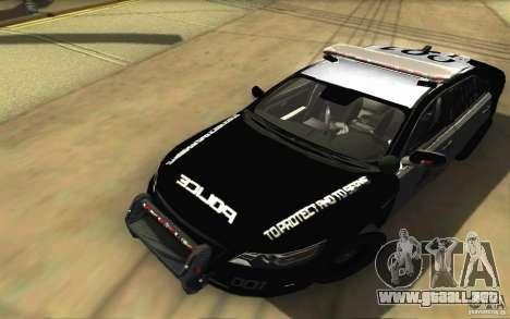 Ford Taurus 2011 LAPD Police para la vista superior GTA San Andreas