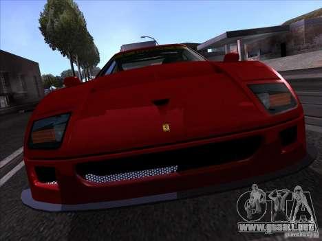 Ferrari F40 GTE LM para la visión correcta GTA San Andreas