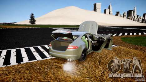 Jaguar XFR 2010 para GTA 4 vista superior