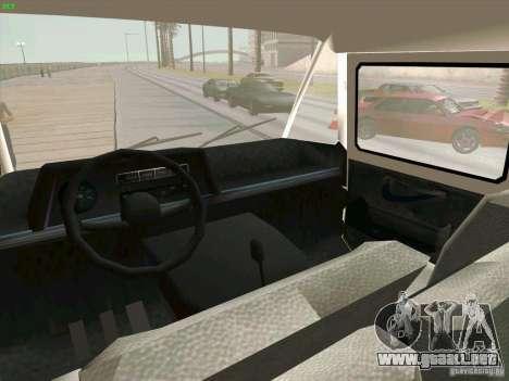 Zuk A-1805 para GTA San Andreas vista hacia atrás